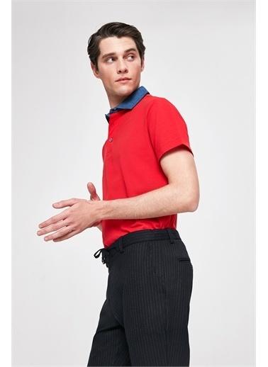 TWN Slim Fit Pike Dokulu T-Shirt Kırmızı
